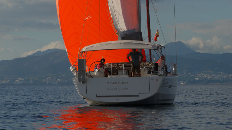 Wonderful charter sailboat in the bay of Palma
